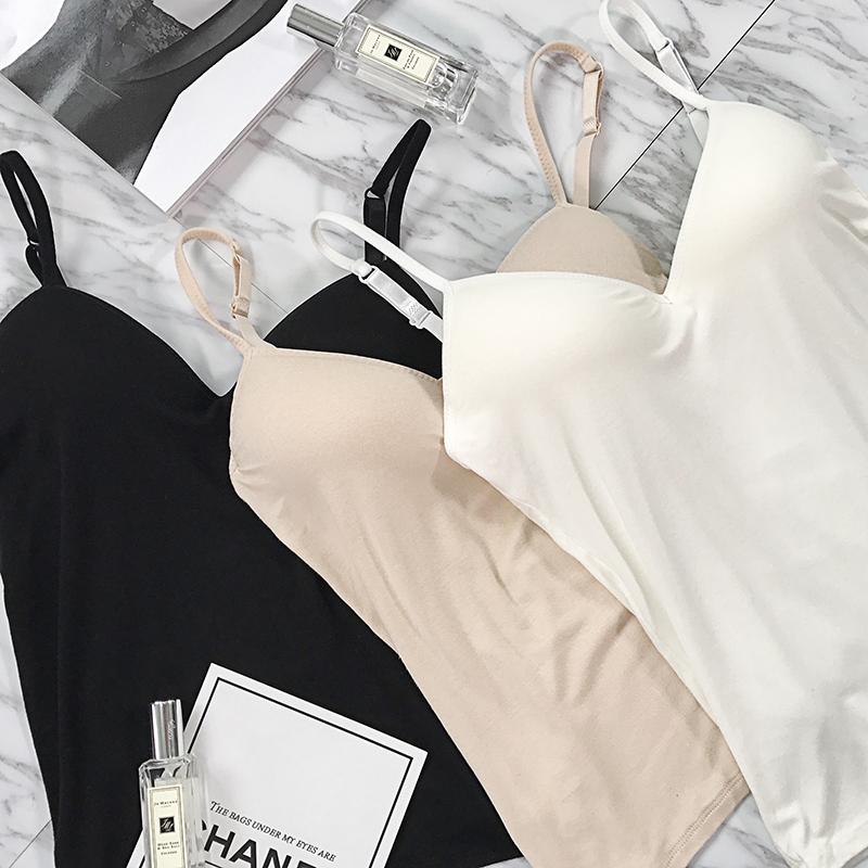 ruoyu 莫代尔3色吊带背心女夏季内搭打底衫短款外穿