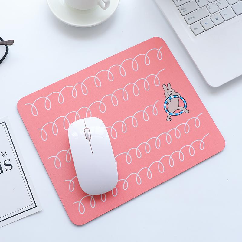 优湃 文艺清新插画鼠标垫 时尚创意鼠标垫 可爱卡通植物鼠标垫