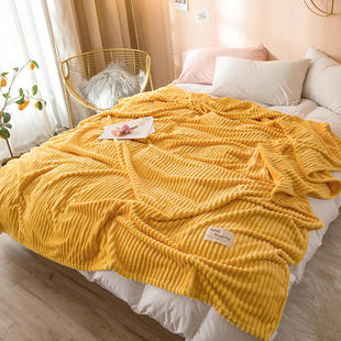 Bonenjoy Blankets for Beds Solid Yellow Color Soft Warm 300