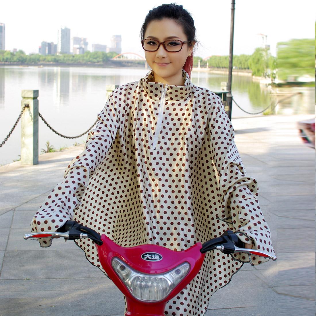 春夏季骑车开电动车摩托车防晒披肩衣披风长款防紫外线长袖遮阳女