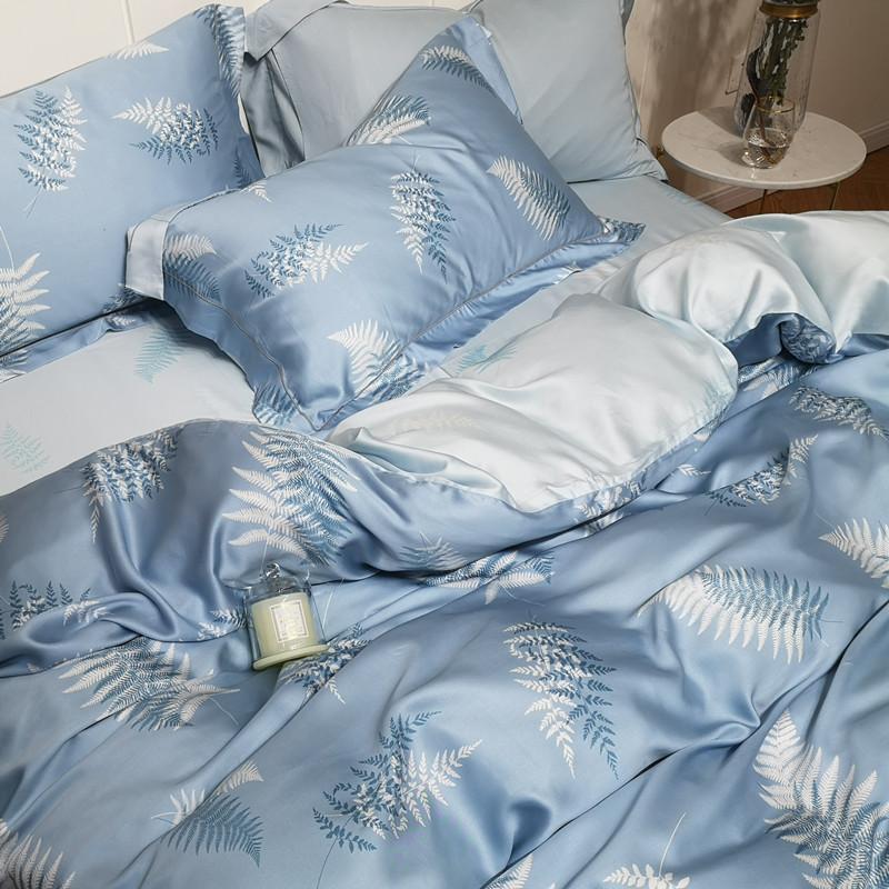 60支天丝四件套冰丝夏季裸睡夏凉被套欧式丝滑夏天真丝床上用品
