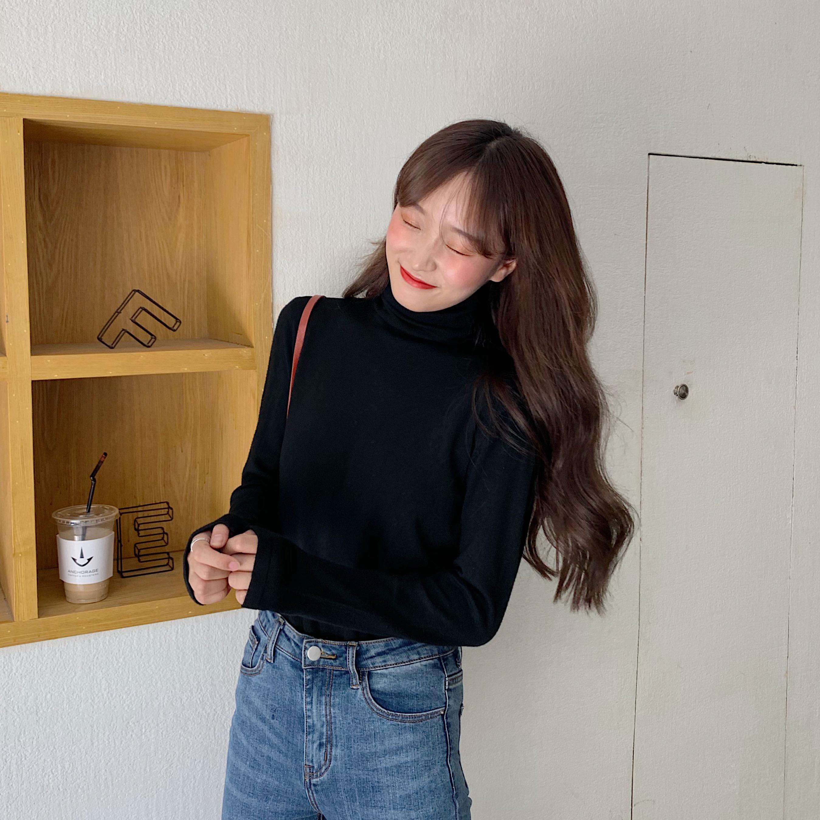 限29实拍实价2020新款纯色百搭高领针织打底衫女-大小姐LS-