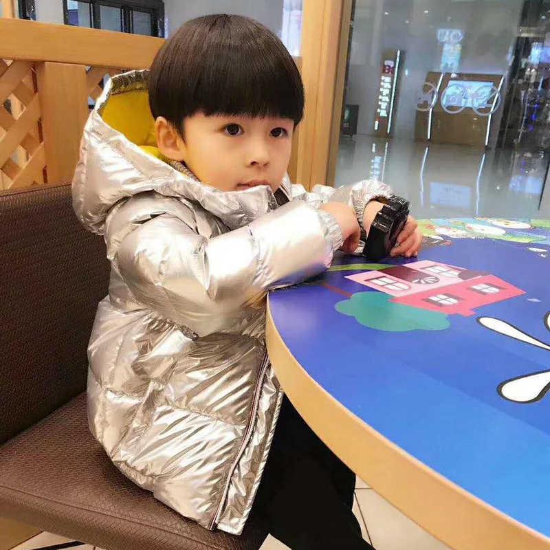 反季特卖太空银色儿童羽绒服加厚婴儿宝宝男童女童1-3韩版童装