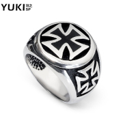 YUKI cross jewelry man ring titanium steel cool ring finger ring fashion personality original Club accessories