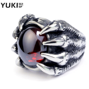YUKI men titanium steel ring Europe and exaggerated personality index finger vampire original designing woman jewelry Club accessories