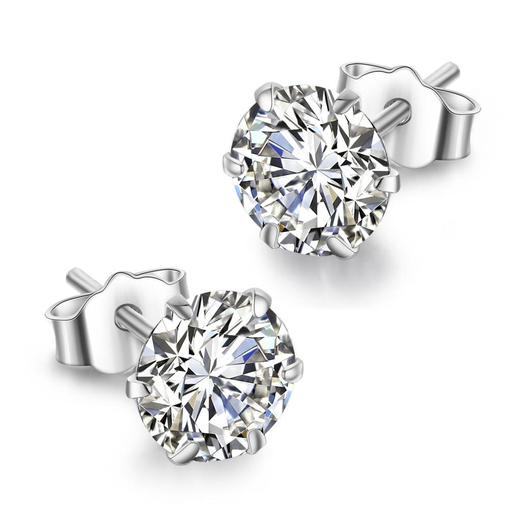 925银耳钉男女士日韩国可爱简约个性甜美欧美耳骨钉耳环气质纯银