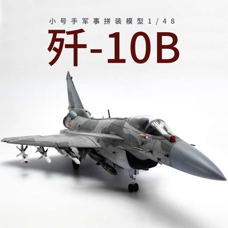 小号手拼装军事飞机模型摆件仿真1/48歼10战斗机手工制作阅兵航模