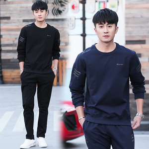 Sports suit men's sweater suit spring and autumn winter coat running long pants casual sports clothing two-piece suit