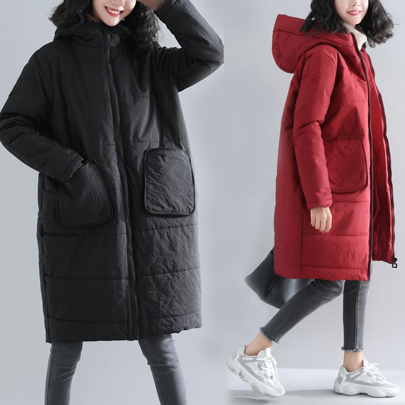 230斤大码女棉服中长款胖mm秋冬装加厚休闲百搭洋气连帽棉衣外套