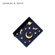 CHARLES & KEITH Short Purse CK6-50680560 Euro-American Star and Moon Multifunctional Card