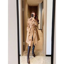 董小姐高端定制风衣2020新款中长款明线设计大翻领气质大衣外套女