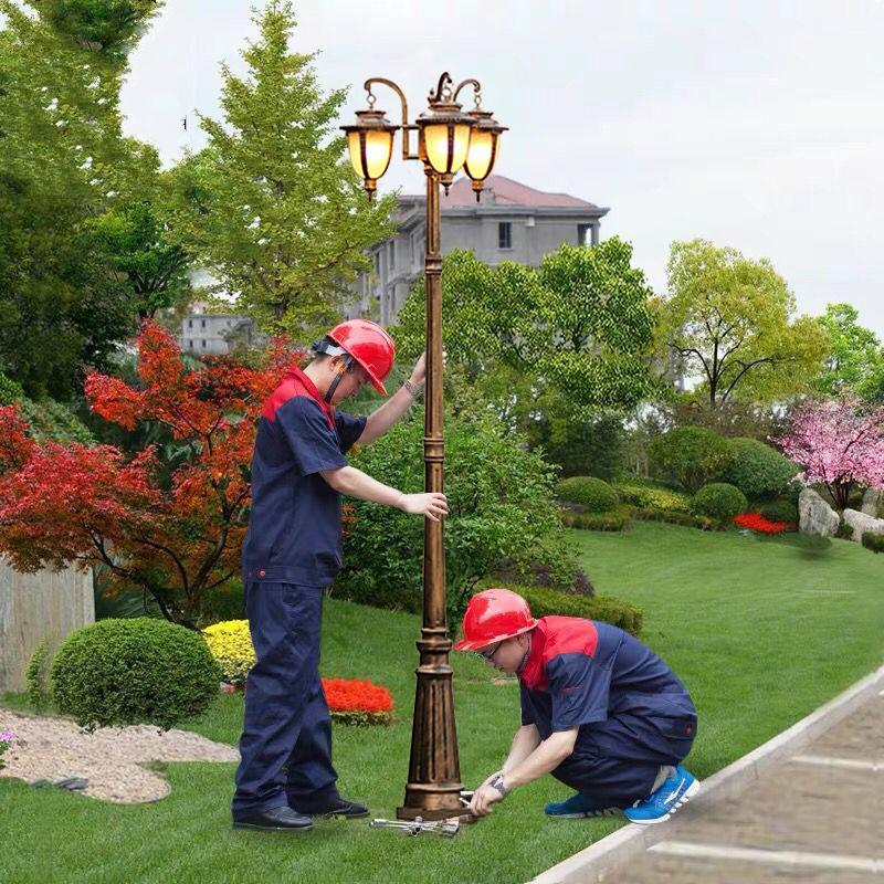 欧式庭院灯3米花园路灯小区草坪灯室外户外灯防水别墅高杆景观灯