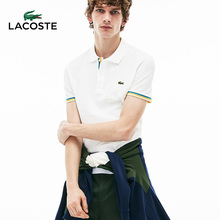 LACOSTE French Crocodile Men's Clothing 19 Spring and Summer Pure Color Simple Men's Short-sleeved POLO Shirt PH4220M1