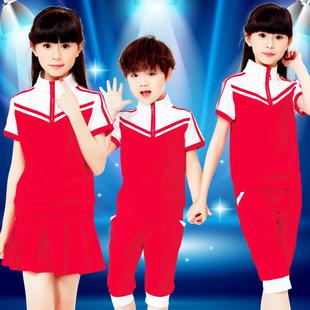 童装幼儿园园服夏装短袖小学生儿童演出服合唱服男女童校服班服潮