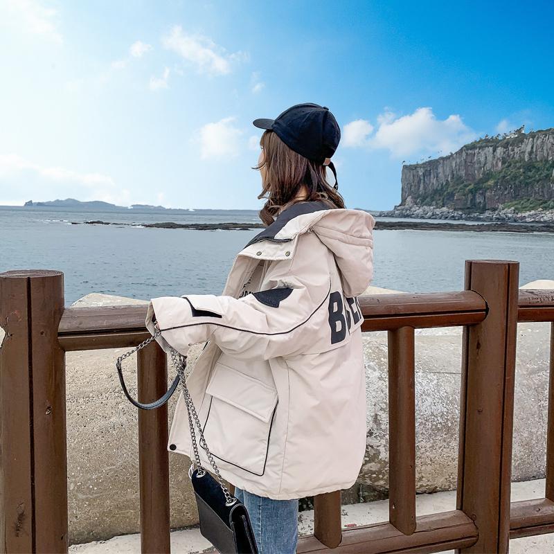 加厚羽绒棉衣棉服女韩版宽松面包服秋冬季外套工装棉袄2021年新款