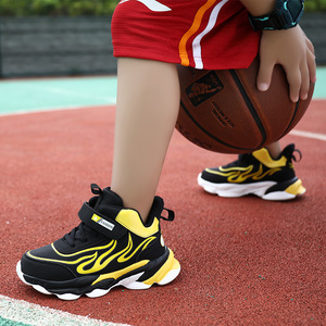 Children's basketball shoes boys 5 primary school students 6 high-top sneakers 7 children 8 plus velvet cotton sneakers 12 boys ten years old