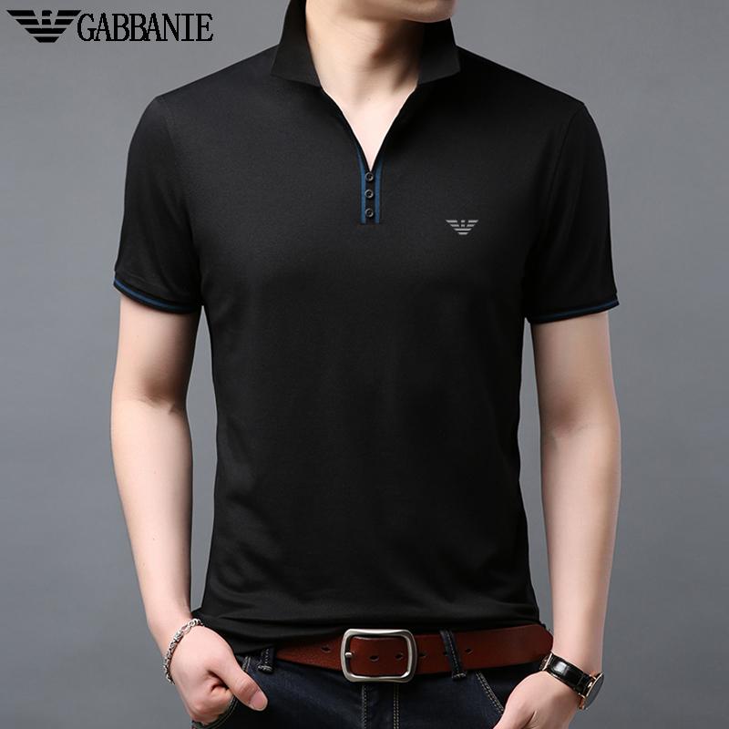 奇 阿玛尼 亚短袖T恤男夏装翻领中青年商务休闲丝光棉POLO衫体恤