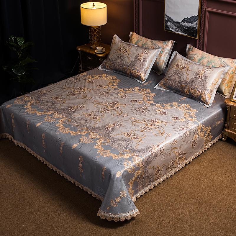 床裙冰丝凉席三件套1.8m床可水洗折叠夏季1.5米可机洗空调软席子