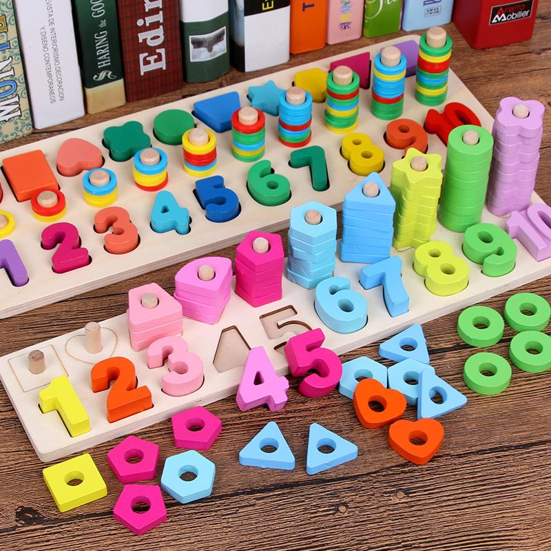 儿童认数早教益智力开发宝宝数字积木拼图玩具1-2-3-6周岁男女孩