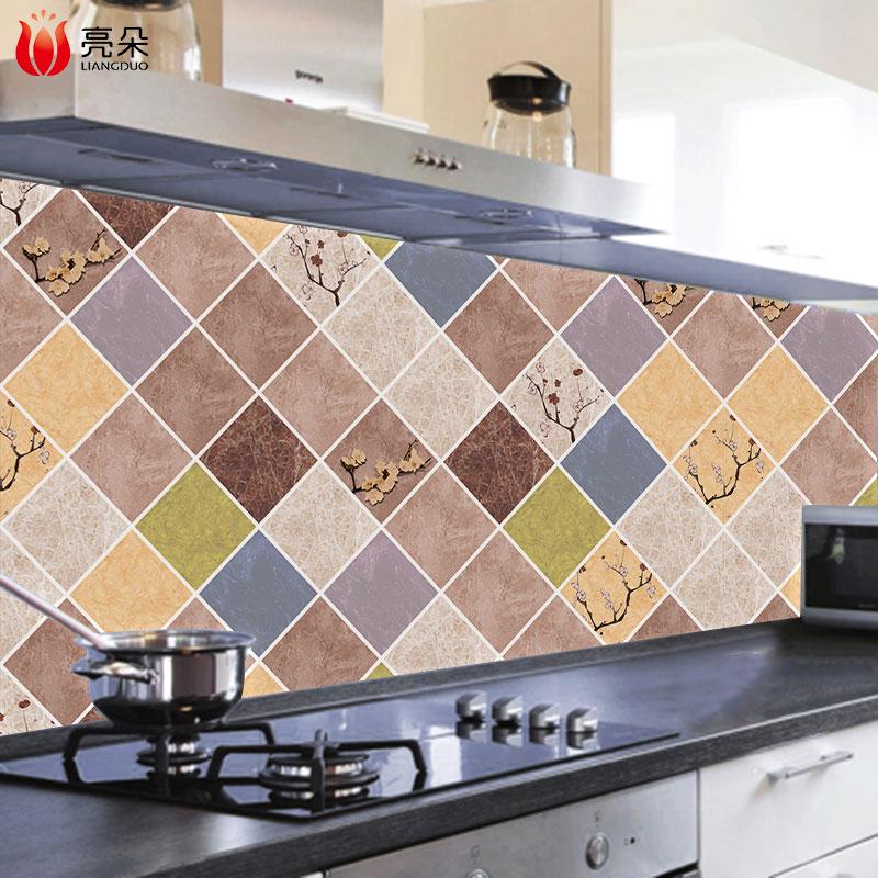 厨房防油贴纸自粘耐高温灶台用防水防油烟机瓷砖墙贴台面橱柜壁纸