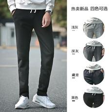 秋冬季加厚宽松男士运动裤直筒卫裤针织大码休闲长裤子