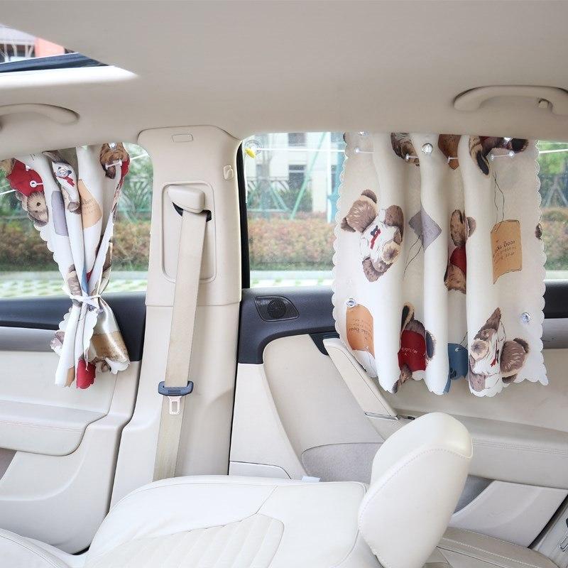 汽车遮阳挡小车窗户防晒隔热窗帘板吸盘式轿车挡光车载车内侧窗布