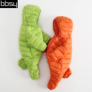 Baby lightweight down jacket baby coveralls 2017 new men and women 0-1-2 winter children's clothing children's clothing