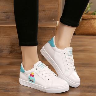 小白鞋女春季2018新款百搭韩版学生街拍港味白鞋子平底皮面帆布鞋