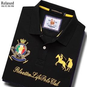 打高尔夫球上衣服饰男装长袖翻领T恤POLO衫运动保罗有领休闲体恤