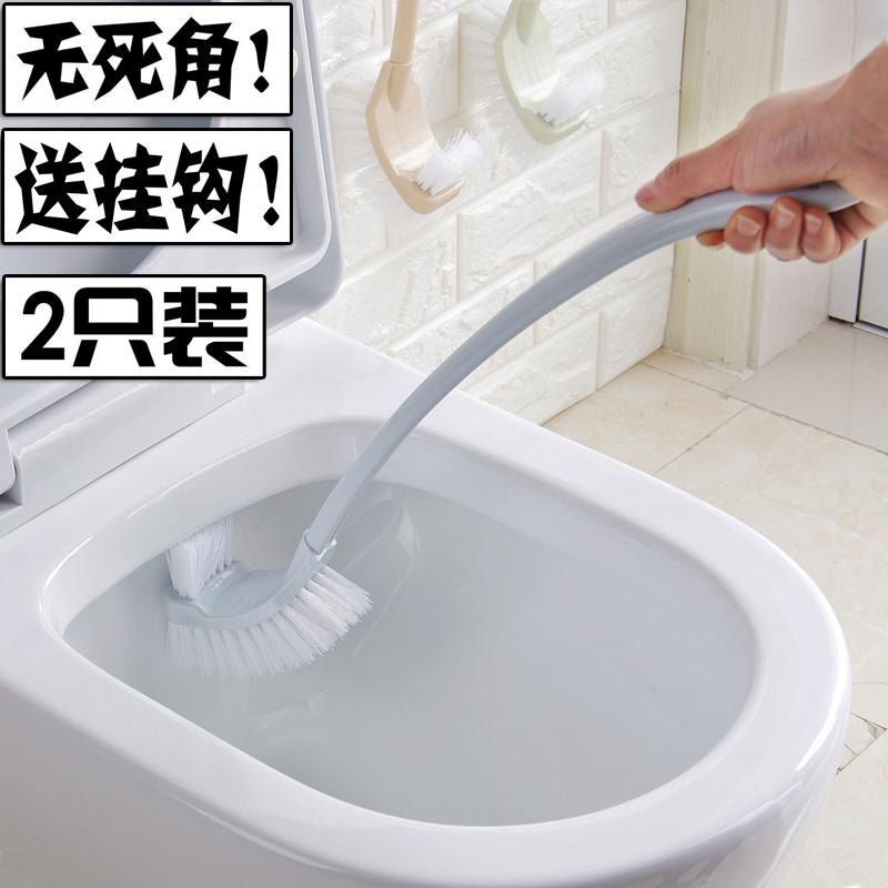 塑料马桶刷洗则所用品长柄厕所长把硬毛刷子卫生[天猫商城]