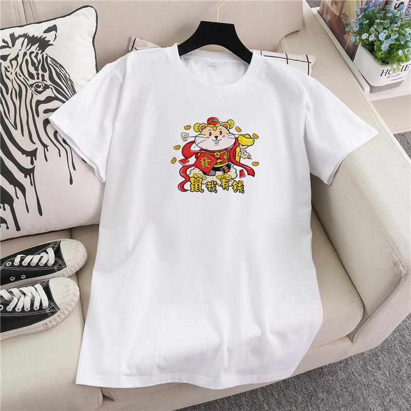 A6329实拍【100%纯棉180G】A6329#夏季新款白色韩版短袖T恤女