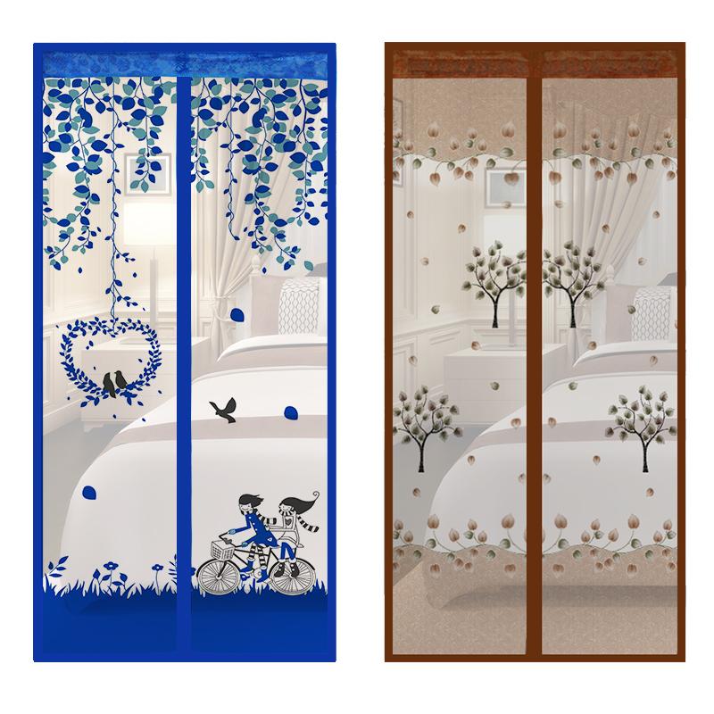 防蚊门帘魔术贴蚊虫帘子隔断帘加密纱窗夏季磁性布艺客厅卧室装饰