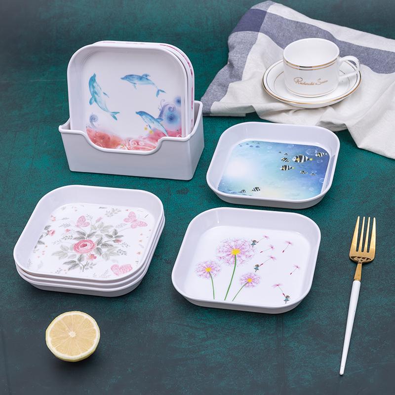 吐骨碟家用塑料小碟子餐桌装垃圾分类盘子残渣壳盘子耐摔干果壳盘