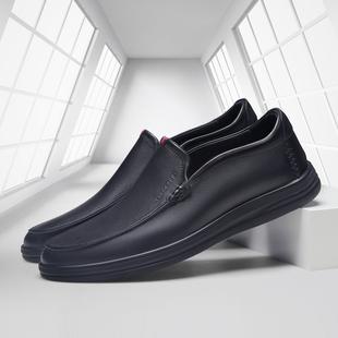 卡丹路乐福鞋男士休闲皮鞋2020春季新款真皮休闲男鞋一脚蹬软皮鞋