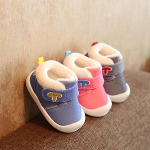 冬季新款宝宝棉鞋1-3岁2男女6-12个月婴儿棉鞋软底学步鞋加绒保暖