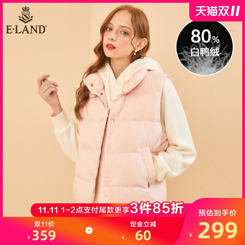 预售EEJD98912I ELAND2019年冬季新款马甲防水立领无袖羽绒服女