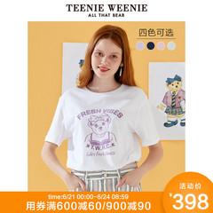 TeenieWeenie小熊2019夏季新款圆领印花短袖宽松上衣女cecT恤潮