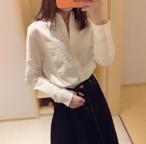 Loss benefits! Last year 148! Japan high-end high-quality oxford cotton shirt women spring and autumn