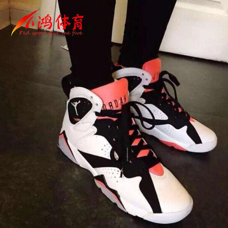 ������Ʒ:小鸿体育 Air Jordan 7 Hot Lava AJ7 黑白粉 热熔岩 442960-106