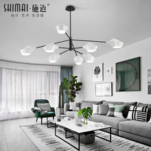 Lamps living room minimalist modern chandelier Atmosphere home restaurant creative personality Nordic bedroom lamp modeling lighting