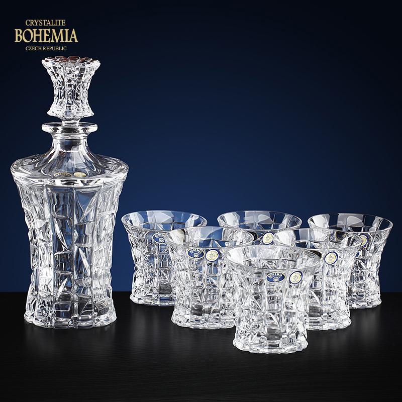 捷克进口BOHEMIA波希米亚帕翠欧7头水晶玻璃酒具