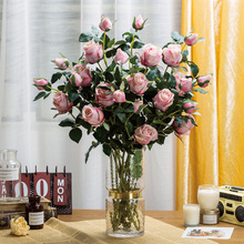 If a flower blossoms to guard against real rose false flowers simulation living room dining table decoration bouquet household decoration silk flower art