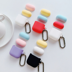 AirPods Cover Apple Bluetooth Wireless Headphone Case iPhone Solid Color Pods Box Cover Air Cute Silicone Ipod Shell Change Color Vibrato airpod Accessories Korea ins Protective Shell