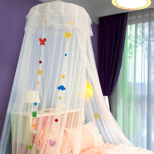 Children's ceiling mosquito net Princess dome net red ins household bed veil 1.2 m 1.5m 1.8 bed student single bed
