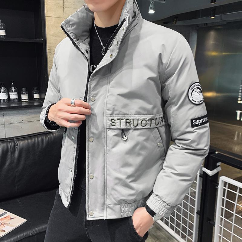 2020冬季新款高品质棉服韩版男潮流精致刺绣立领棉衣MY666-P125