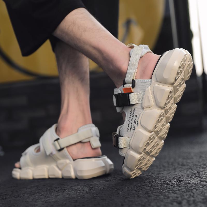 金贝勒凉鞋男透气2019新款学生韩版潮流户外防滑拖鞋两用沙滩鞋子