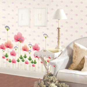 Butterfly flower living room sofa bedroom tv wall background glass decals