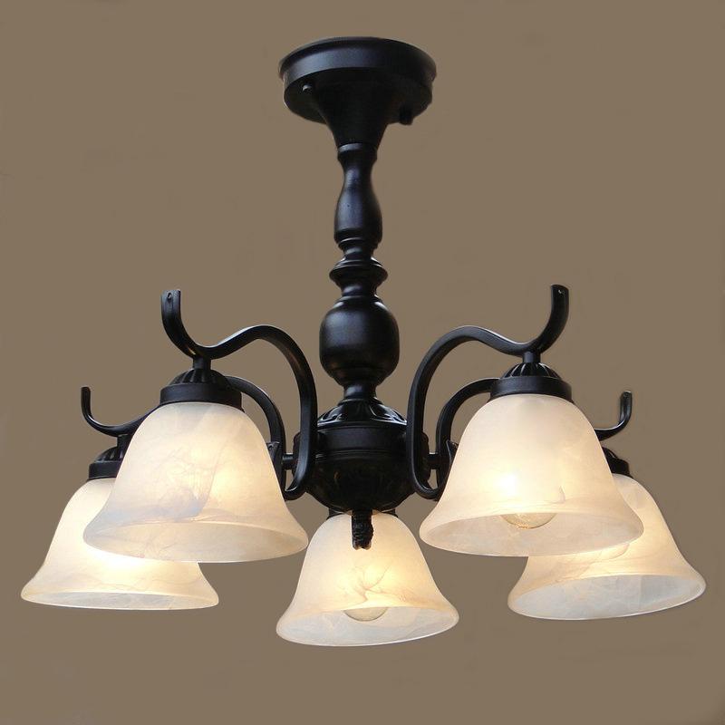 北欧美式客厅吊灯卧室餐厅地中海简约现代铁艺术复古大气吸顶灯具