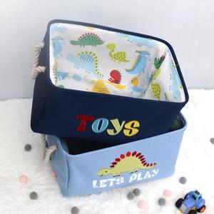 Export children's toy storage basket cartoon large cloth storage bucket baby clothes finishing box desktop storage basket