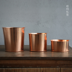 Plant Private Gardening Tools Quality Copper Bucket Water Drier Flower Bucket Flower Bucket Copper Decoration